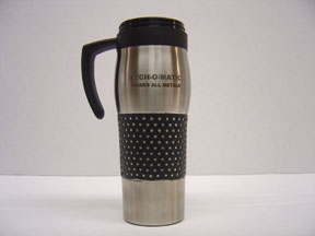 Etched Stainless Steel Travel Mug